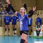 Emotionaler Ausbruch: Lena Vedder zeigt gerne ihre Freude. Nun auch in der nächsten Saison beim VCW. Foto: rscp/Corinna Seibert