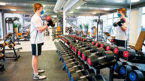 """Nach Terminvereinbarung ist beispielsweise im """"Sport Point"""" ein Training möglich. Symbolfoto: dpa/ Dietze"""