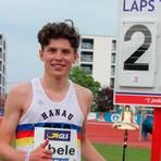 Der Dauernheimer Marius Abele landet bei den Deutschen Leichtathletik-Meisterschaften in Mainz einen Überraschungserfolg mit Rang zwei. Foto: arn