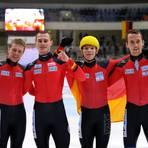 Erst der Weltcupsieg, dann WM-Silber: Für die deutschen Shorttracker ist 2011 ein gutes Jahr. Foto: dpa