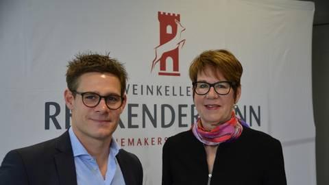 Geschäftsführer Alexander Rittlinger und Exportdirektorin Alison Flemming bei der Jahrespressekonferenz. Foto: Jochen Werner