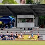 Finale um die Deutsche Meisterschaft vor fast leerer Tribüne beim TSV Schott. Sicherheit geht vor. Foto: hbz/Kristina Schäfer