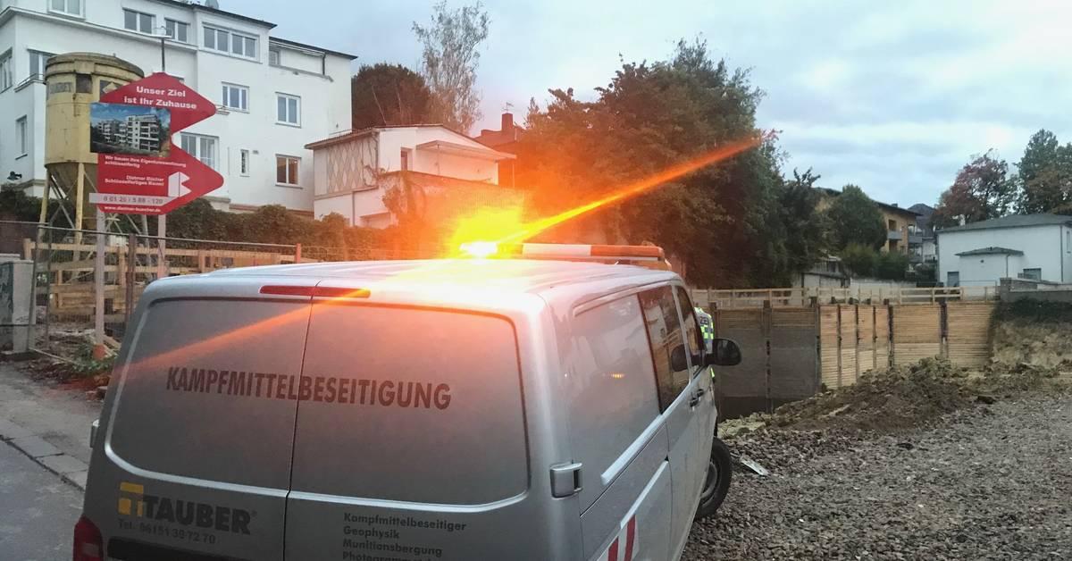 Bombenfund in Wiesbadener Baustelle - Allgemeine Zeitung