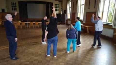 Erst Vorbereitung im Sternensaal, dann Training bei den Taunusfightern. Foto: Sportkreis Rheingau-Taunus