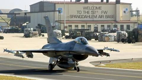 Eine F-16 startet vom US-Stützpunkt in Spangdahlem. Archivfoto: dpa