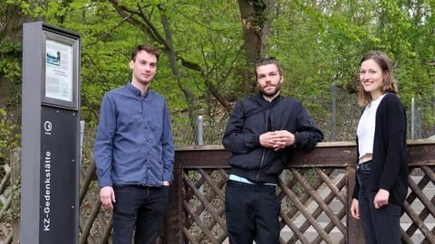 Die Hörspiel-Macher: Jan Schnellbacher, Moritz Buch und Anna Sophie Reitnauer (von links). Foto: Jörg Halisch