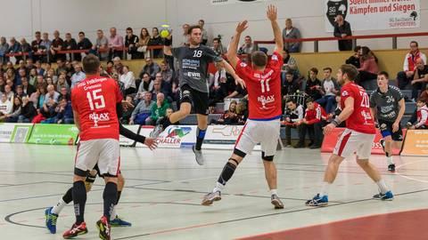Die SG Saulheim, am Ball Mathias Konrad, will nur als Meister in die Dritte Liga. Archivfoto: BilderKartell/Carsten Selak