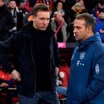 Dass Julian Nagelsmann (l.) beim FC Bayern München Hansi Flick ablösen wird, gefällt nicht jedem Fan, vor allem nicht angesichts der hohen Ablösesumme. Foto: dpa