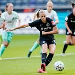 Laura Freigang spielt für Eintracht Frankfurt und belegt aktuell den zweiten Rang der Bundesliga-Torjägerliste. Foto: dpa