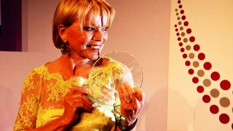 Verdiente Preisträgerin: Uschi Glas. Foto: Anja Kossiwakis