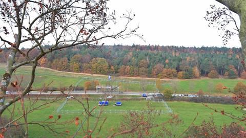 Blick auf das Gleental wo der Brückenpfeiler entstehen soll. Archivfoto: Günther Krämer