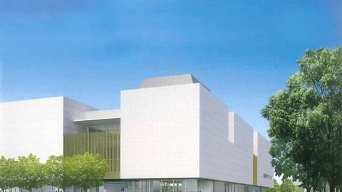 So wird das Museum Reinhard Ernst aussehen, das zur Zeit an der Wilhelmstraße gebaut wird. Entwurfzeichnung: Maki and Associates, Tokyo