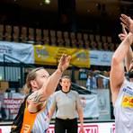 Michael Auprince (M.) und der RSV Lahn-Dill haben nach den Erfolgen über Wiesbaden und Hannover (hier Joe Bestwick (l.) und Matthias Güntner) viel Selbstvertrauen für das Duell mit den Münchnern getankt.  Foto: Jenniver Röczey
