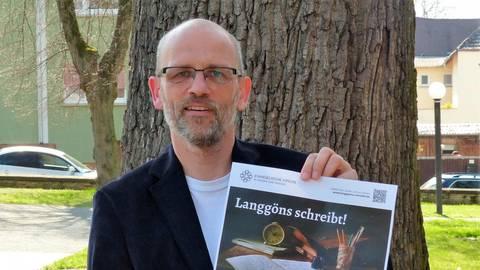 """Pfarrer Stephan Ebelt wünscht sich, dass """"Langgöns schreibt!"""" Foto: Rieger"""