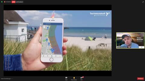 """Der """"Strandticker"""" zeigt, welche Strandabschnitte an der Lübecker Bucht stark frequentiert sind.Bildschirmfoto: Oliver Koch"""