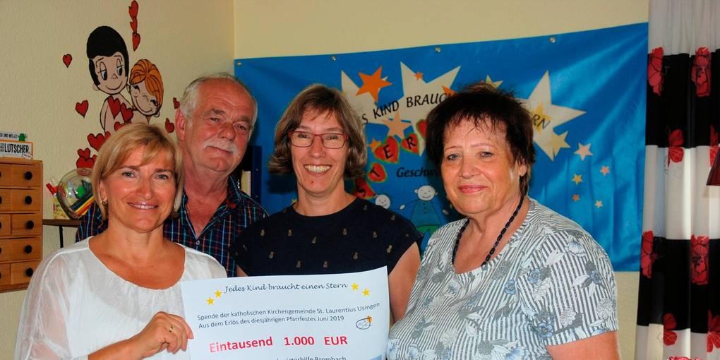 1000 Euro für Sterntaler Geschwisterhilfe