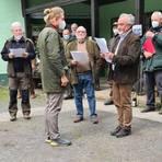 Die Jungjäger nahmen ihre Zeugnisse entgegen. Foto: Jagdverein Hubertus Gießen