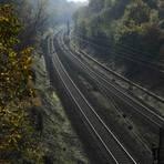 Das Foto zeigt die bestehende Strecke südlich des Darmstädter Südbahnhofs. Foto: Guido Schiek