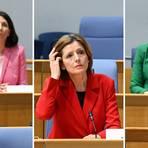 Die Spitzenkandidatin der FDP, Daniela Schmitt (l-r), die Spitzenkandidatin der SPD und Ministerpräsidentin von Rheinland Pfalz, Malu Dreyer und die Spitzenkandidatin der Grünen, Anne Spiegel. Fotos: dpa