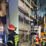 Ein Feuer ist am Sonntagabend in einem Wohnhaus in Groß-Zimmern ausgebrochen. Foto: Freiwillige Feuerwehr Groß-Zimmern