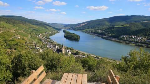 Darauf ist man im Rheingauer Weinbauverband mächtig stolz: Die schönste Weinsicht Deutschlands 2020 liegt in Lorch am Rhein. Archivfoto: Rheingauer Weinwerbung