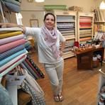 """Dunja Supp hat vor drei Jahren ihr """"Nähzimmer"""" eingerichtet. Archivfoto: hbz/Bahr"""