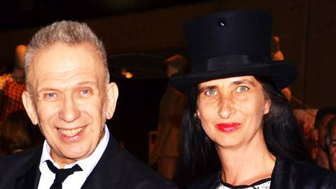 Jean Paul Gaultier und Anja. Foto: Anja Kossiwakis