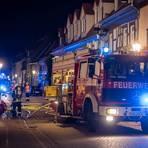 Die Feuerwehr im Einsatz in der Idsteiner Innenstadt.  Foto: wiesbaden112.de