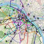 Die großen Symbole stellen Quellen des Radverkehrs da, die kleinen Pins Ziele. Foto: ADFC