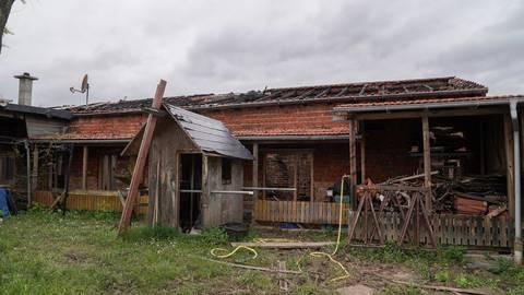 In diesem Gebäude hatte es vergangene Woche gebrannt. Die Spuren sind sichtbar.     Foto: pp/Korpak