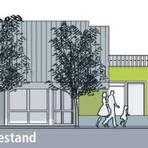 Die Studie des Budenheimer Architektenbüros Klein geht von einem flachen Anbau mit viel Holzanteil aus.Abbildung: Klein Architekten