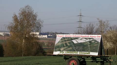 Der Protest gegen das Industriegebiet Ost geht weiter. Archivfoto: pakalski-press/Axel Schmitz