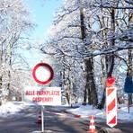 Der Parkplatz Förster-Bitter-Eiche bei Hausen soll am Wochenende nicht gesperrt werden. Allerdings wird vor herabstürzenden Ästen gewarnt. Foto: Martin Fromme