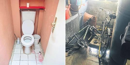 Eine Toilette auf dem Flur ohne Waschbecken und eine Öllache sowie Müll im Heizkeller - so eine Wohnung wurden einem Obdachlosen in Mainz zugeteilt.  Fotos: Lukas Görlach, Julia Sloboda