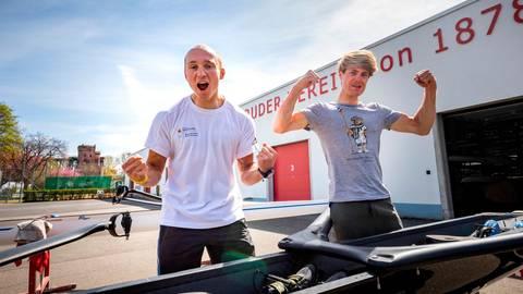 Jonathan Rommelmann (links) und Jason Osborne wollen auch bei Olympia in Tokio jubeln. Foto: René Vigneron