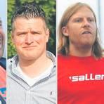 Stimmungsbild(er). (von links) Daniyel Bulut, Marko Semlitsch, Björn Velten und Mario Schappert. Foto: Bär (2), Weis, Volkmann