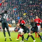 Jean-Philippe Mateta von Mainz 05 springt allen voran.  Foto: Sascha Kopp