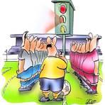 Bange Blicke in Corona-Zeiten: Wenn das Signal auf Orange umschaltet, droht mancher Sportart der vorübergehende Abpfiff. Karikatur: Schwarze-Blanke