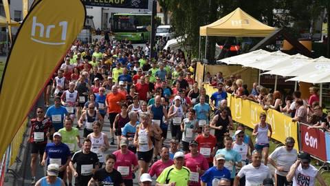 Der Apfellauf in Laubuseschbach ist eine der größten Laufveranstaltung im Kreis Limburg-Weilburg. Ob der Startschuss wie geplant am 13. Juni fällt, ist offen. Foto: Kelterei Heil