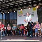 Die Trommelgruppe Niedermeilingen hat bei der Landesgartenschau ihren großen Auftritt. Foto: wita/Martin Fromme