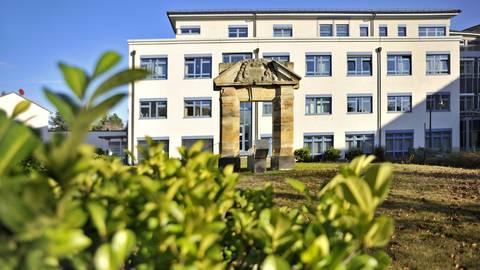 Blick aufs Ingelheimer Krankenhaus.  Archivfoto: Thomas Schmidt