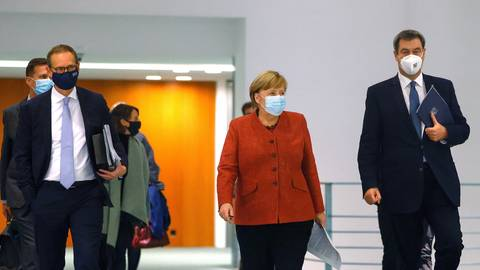 Bundeskanzlerin Angela Merkel trifft sich heute mit den Länderchefs, um weitere Corona-Maßnahmen zu beraten. Foto: Odd Andersen/AFP/POOL/dpa