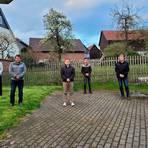 Friedensdorf hat einen komplett neuen Ortsbeirat: (v.l.) Markus Bernhardt, Thomas Kamm, Ortsvorsteher Timo Messerschmidt, Jan-Niklas Bänfer und Reinhold Schmitt. Foto: Sascha Valentin