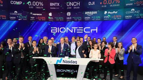 Seit Oktober 2019 ist Biontech an der New Yorker Börse Nasdaq. Foto: Bionteck Twitter