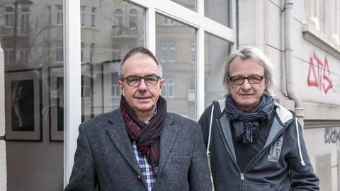 Frank Deubel (links) und Reinhard Berg sind die beiden Organisatoren der Wiesbadener Kulturtage. Foto: Reinhard Berg