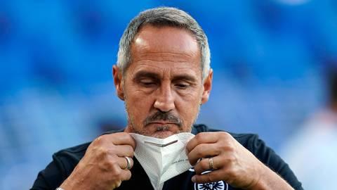 Eintracht-Trainer Adi Hütter. Foto: dpa