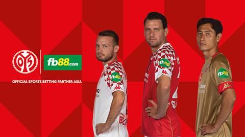 Der neue Sponsor auf den Ärmeln der Mainz-05-Trikots. Foto: Mainz 05