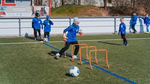 Mit Feuereifer dabei. Foto: United Soccer Academy, Frankfurt