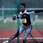 Mit überwiegend hessischer Konkurrenz muss sich im Kugelstoßen der weiblichen Jugend U18 Milina Wepiwe (TSG Wehrheim) auseinandersetzen. Archivfoto: kie