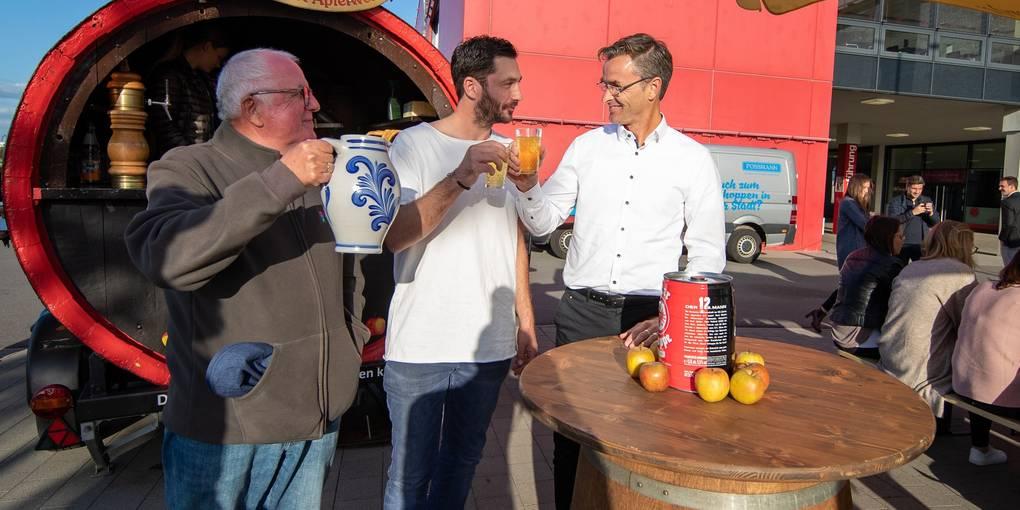 Eintracht bedankt sich bei Mainz 05 mit viel Äppler_Allgemeine Zeitung